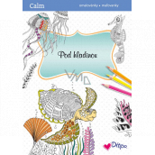 Ditipo Calm Underwater relaxation coloring book A4 32 pages
