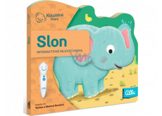 Albi A magical reading interactive mini-book with a cut-out Elephant for children from 2 years