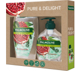 Palmolive Pure & Delight Pomegranate shower gel 250 ml + Pure & Delight Pomegranate liquid soap dispenser 300 ml, cosmetic set