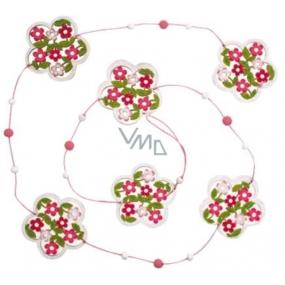 Flower chain pink-white 118 cm 1 piece