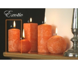 Lima Marble Exotic scented candle orange cylinder 50 x 100 mm 1 piece