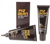 Piz Buin Ultra Light Sun SPF15 Fluid na opalování 150 ml + Ultra Dry face SPF15 Fluid na opalování pleti 50 ml