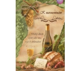 Albi Playing Greeting Card Birthday Wine White 14.8 x 21 cm
