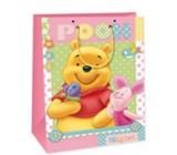 Ditipo Disney Children's gift bag M Medvídek Pú, piggy bank, butterfly 18 x 10 x 22,7 cm