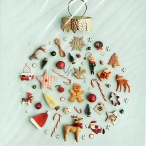 Nekupto Christmas Gift Card Flask 6.5 x 6.5 cm 6 pieces
