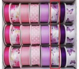 Ditipo Ribbon satin purple flowers 3 mx 25 mm