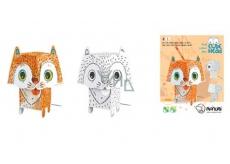 Monumi 3D Cat in painting +/- 19.5 cm