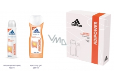 Adidas Adipower antiperspirant deodorant spray for women 150 ml + shower gel 250 ml, cosmetic set