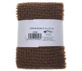 Ditipo Jute ribbon dark brown 2 mx 5 cm