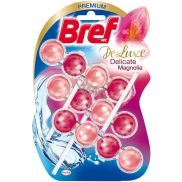 Bref De Luxe Delicate Magnolia solid toilet block for hygienic cleanliness and freshness of your toilet 3 x 50 g