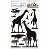 Black giraffe wall sticker 24 x 42 cm