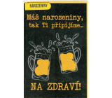 Nekupto Birthday card 115 x 170 mm Beer 3565 F