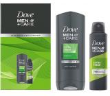 Dove Men + Care Extra Fresh shower gel 400 ml + antiperspirant deodorant spray 150 ml, cosmetic set for men