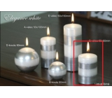 Lima Elegance White candle silver cylinder 60 x 90 mm 1 piece