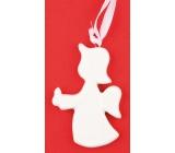 Ceramic angel for hanging 7.5 cm