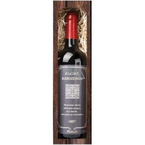 Bohemia Gifts & Cosmetics Merlot Krásné narozeniny červené dárkové víno 750 ml