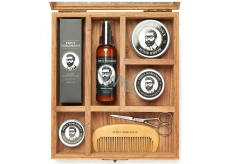 Percy Nobleman Beard Care and Mustache Oil Conditioner 100 ml + beard shampoo 100 ml + beard balm 65 ml + styling wax 50 ml + beard wax 30 g + scissors + comb, cosmetic set
