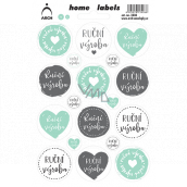 Arch Home Labels Home Labels stickers Handmade 12 x 18 cm