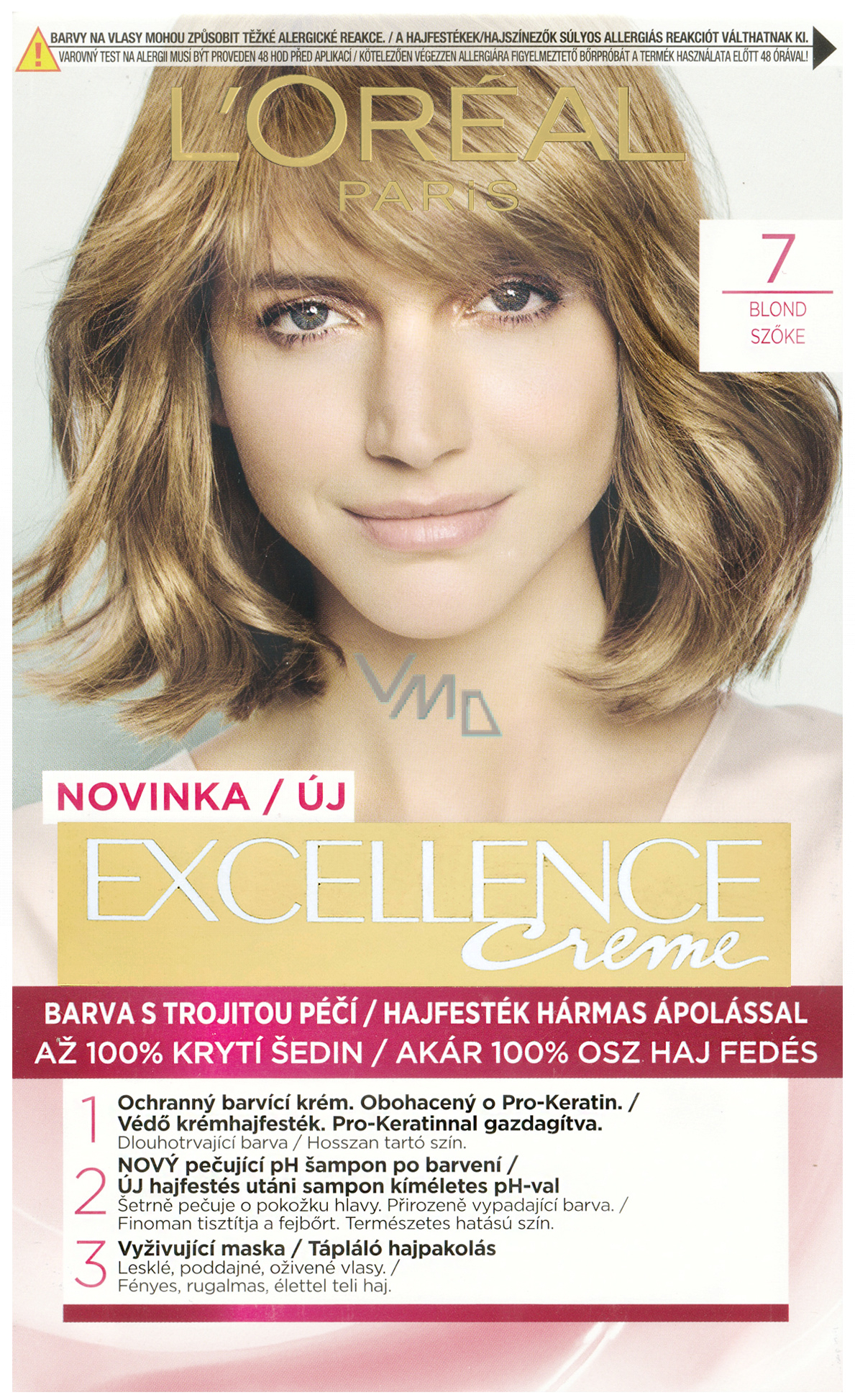 Loreal Excellence Creme Hair Color 7 Blond - VMD..
