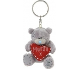 Me to You Teddy bear with heart Mwah plush keychain 8 cm