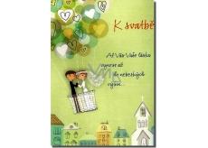 Albi Hrací přání do obálky K svatbě Ještě že tě lásko mám Petr Kolář 14,8 x 21 cm