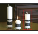 Lima Lace candle white cylinder 60 x 150 mm 1 piece