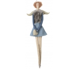 Angel cloth on hanging, in denim and gray vest 43 cm 3861 8388