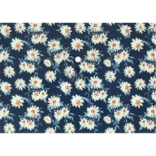 A4 document case - Flowers on blue