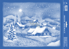 Arch Christmas sticker on the window 25 x 35 cm snowy landscape
