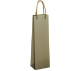 Ditipo Gift paper bag for bottle 12 x 9 x 39 cm ECO olive green