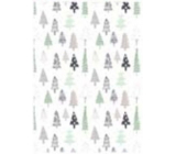 Ditipo Gift wrapping paper 70 x 100 cm Christmas white - trees 2 sheets