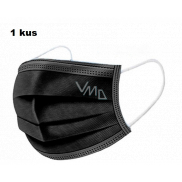 Shield 3-layer protective medical non-woven disposable, low breathing resistance 1 piece black