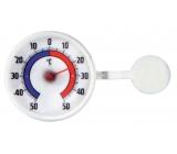 Schneider Window thermometer round, plastic, self-adhesive, 73 mm bimetallic BIM