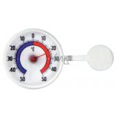 Schneider Window thermometer round, plastic, self-adhesive, 73 mm bimetal BIM