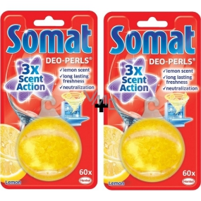 Somat Deo Perls Lemon Dishwasher Freshener 2 x 20.5 g