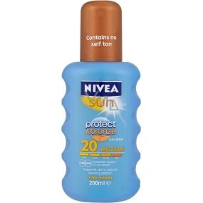 Nivea Sun Protect & Bronze SPF20 + Intensive Tan Spray 200 ml