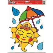 Room Decor Window foil without glue sun with umbrella 42 x 30 cm 1 piece