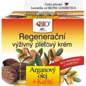 Bione Cosmetics Argan Oil & Karite Regenerating Nourishing Face Cream 51 ml