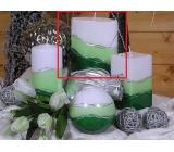 Lima Verona svíčka zelená elipsa 110 x 125 mm 1 kus