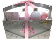 Raphael Rosalee Cosmetics Rose shower gel 200 ml + body lotion 200 ml + bath salt 150 g + toilet soap 2x4 g, cosmetic set