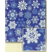 Nekupto Christmas wrapping paper Blue, snowflakes 2 x 0.7 m