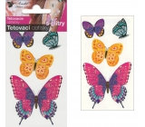 Tattoo decals with glitter Butterflies 10.5 x 6 cm