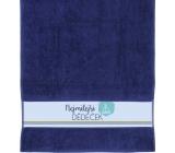 Albi Towel Dear grandfather dark blue 90 cm × 50 cm