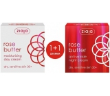 Ziaja Rose Flower moisturizing day cream 30+ 50 ml + anti-wrinkle night cream 30+ 50 ml, duopack