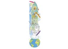 Monumi Cheerful meter Rocket jigsaw puzzle for children 5+ 160 x 40 cm