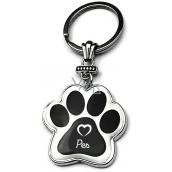 Nekupto Hafani paw-shaped keychain Dog 40 x 85 x 3 mm