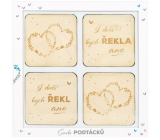 Albi Wedding coasters wooden set of 4 pieces