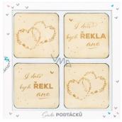 Albi Wedding coasters wooden set of 4 pieces