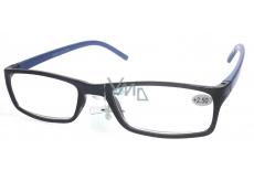 Berkeley Optical Frames +1.0 Plastic Black Blue Side 1 Piece MC2 ER4045
