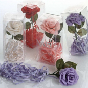 NeoCos Rose with soap petals white 40 g, gift box
